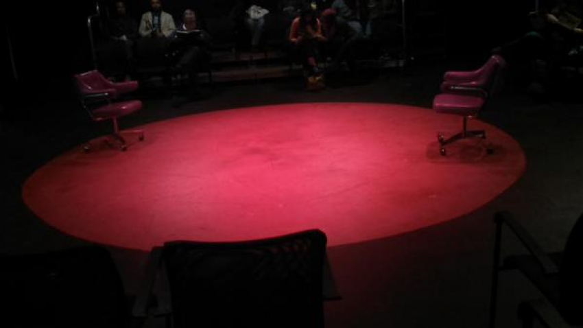 "Set of ""Handbag"" by Scena Theatre at Anacostia Playhouse. Written by Mark Ravenhill. Directed by Robert McNamara."